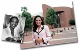 Titilayo Adedokun, 1993 Miss Ohio and Tiffany Haas, 2003 Miss Ohio photo/Andrew Higley