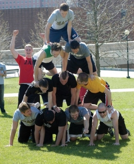 Horsing around on the lawn has been a staple of student activities, including the Greek Games in the spring of '07. photo/Andrew Higley