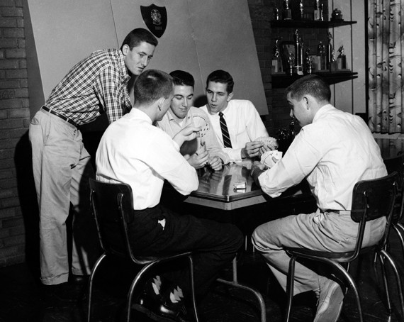 Card games were especially popular in 1950s.