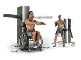 Fitness equipment that can be accessed both from a wheelchair and from a standing position resulted in a national Best of Show design award for Ryan Eder, DAAP '07, who was a student at the time.