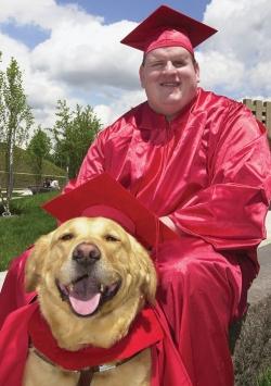Michael Leiterman and dog, Sandor