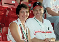 Bob and Kim Dobbs, Ed '78, have made UC a central part of their lives. photo/Dottie Stover