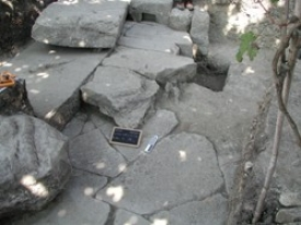 Remains of several foundation stones