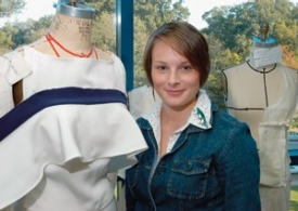 Fashion design student Adrianne Gammie won a national design contest for her all-wool styles. photo/Andrew Higley