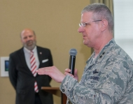 Officials speak during Cyber Range Launch at UC