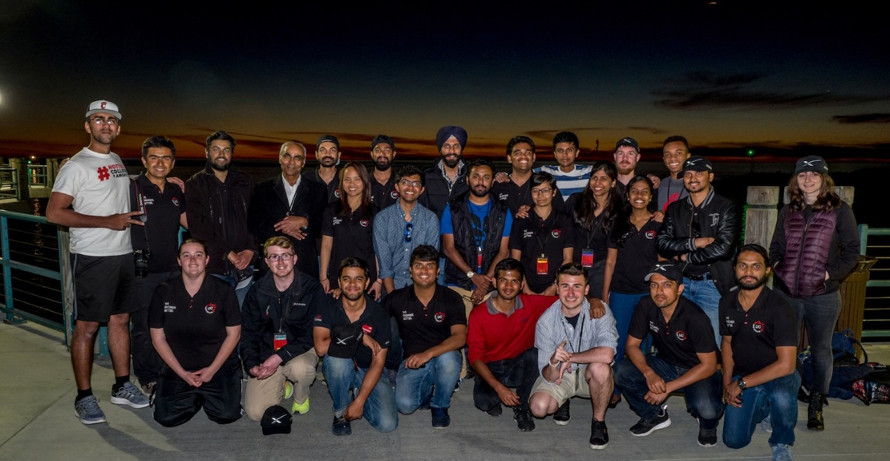 Hyperloop UC team gathers at the Redondo Beach pier. photos/Jay Yocis