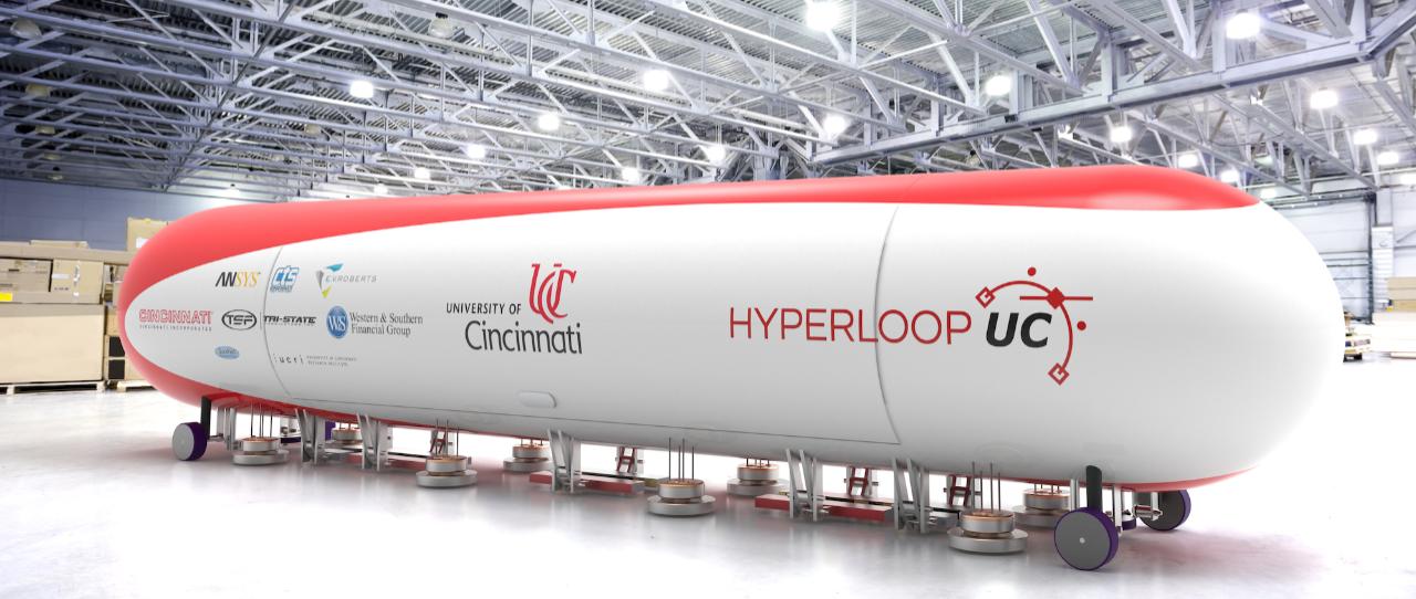Rendering of Hyperloop UC